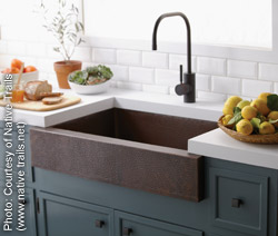 Recycled copper sink