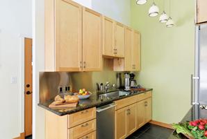 space saver kitchen remodel in La Honda, CA